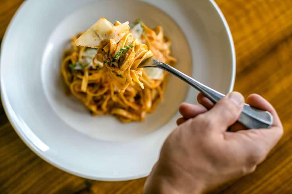 Spaghetti Pomodoro and Fork