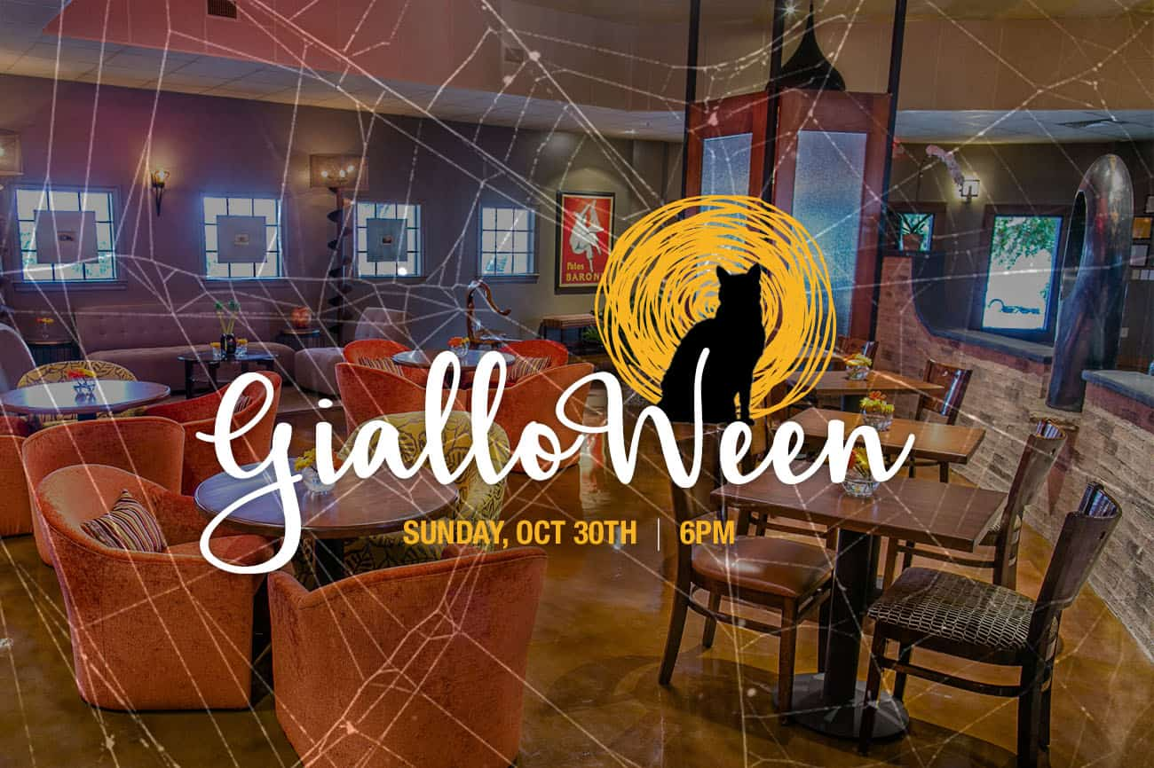 Come Celebrate our First Anniversary on Gialloween!