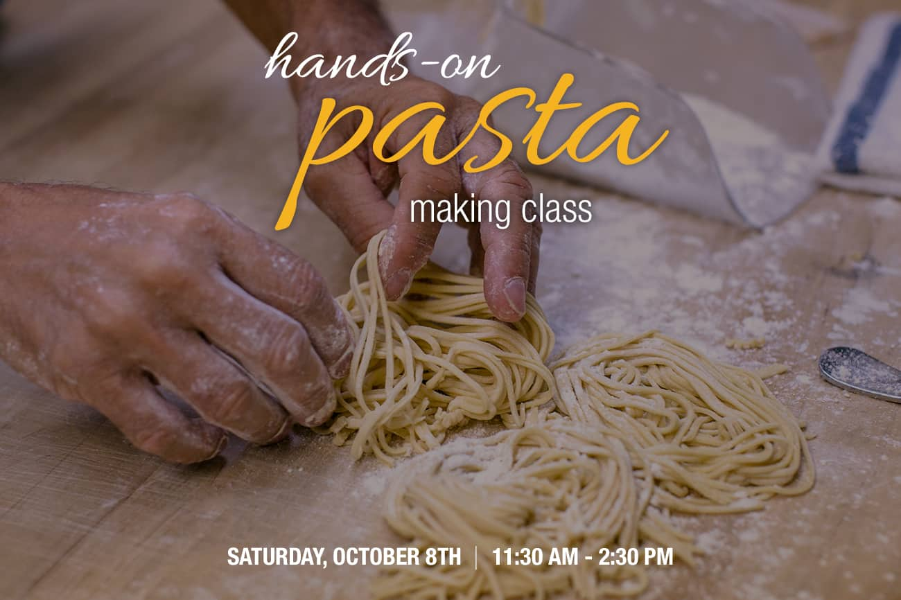 Hands-on Pasta Making Class with Chef Jamie Adams