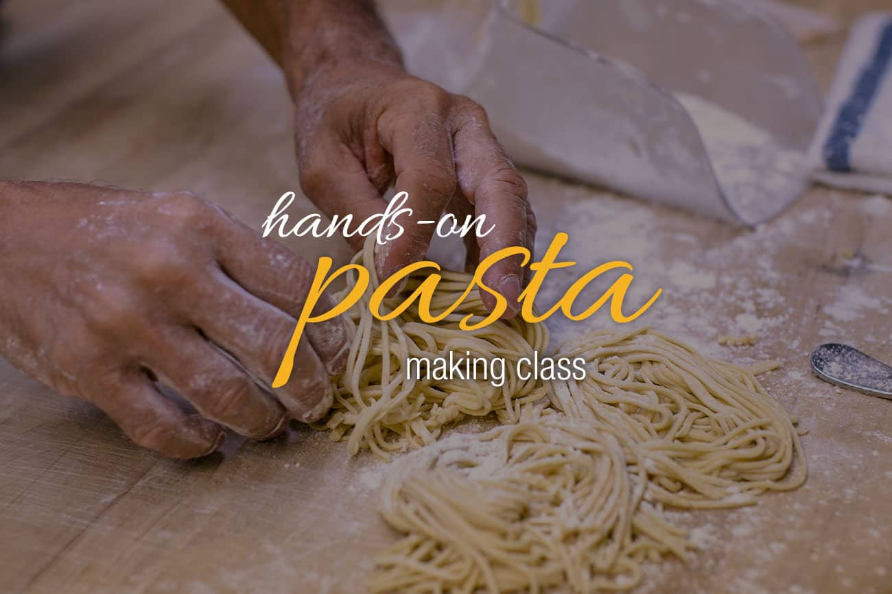January 28: Hands-on Pasta Making Class with Chef Jamie Adams